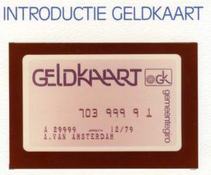 Voorkant persmap introductie Geldkaart